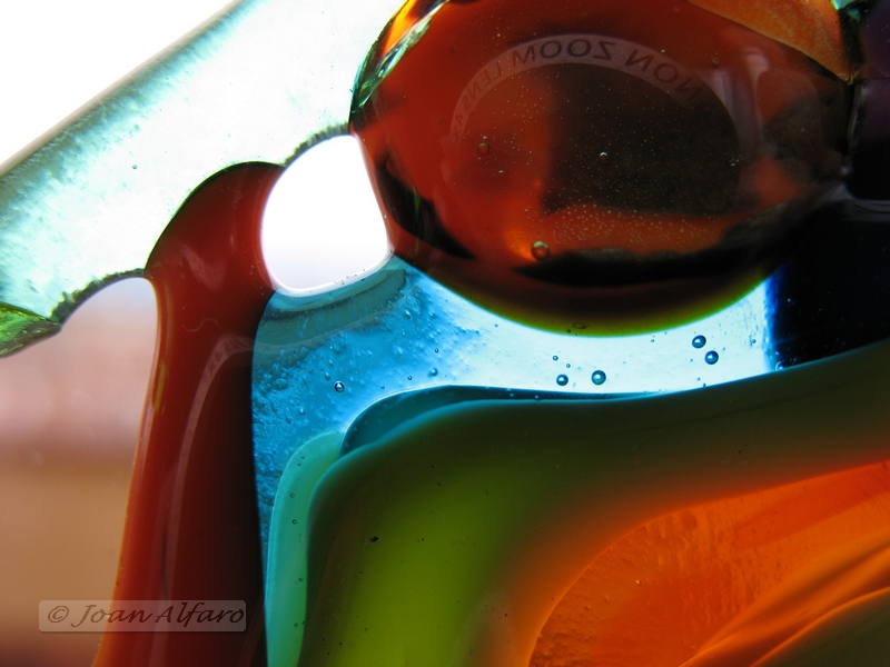 foto abstracta de vidrios de colores