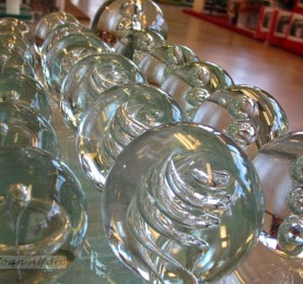 Foto de esferas de cristal